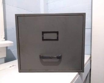 Vintage Stackable Single Drawer Filing Cabinet Standard File Steelemaster Office Storage Industrial MidCentury RhymeswithDaughter