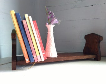 Vintage Wood Table Top Book Holder Rack Nook Display Boho Rustic Farmhouse Country Photo Prop RhymeswithDaughter