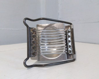Hard Boiled Egg Slicer Vintage Metal Aluminum 60s Kitchen Gadget Slices the Egg  Horizontally Photo Prop RhymeswithDaughter