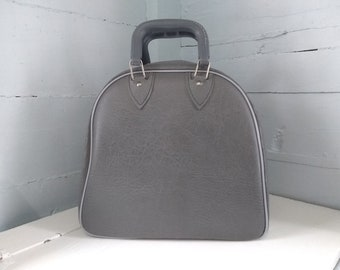 Bowling Bag Vintage Retro Vinyl Gray Sporting Goods Bowling Accessories Photo Prop Gift Idea Fathers Day RhymeswithDaughter