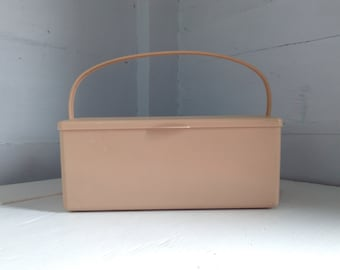 Vintage, Sewing, Craft, Box, Caddy, Storage, MidCentury Modern, Photo Prop, RhymeswithDaughter
