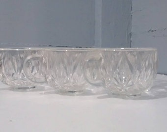 Vintage Punch Bowl Glasses Pressed Glass Hazel Atlas Replacement Punch Bowl Glasses Clear Glass RhymeswithDaughter