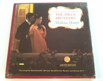 70s Music Records Mills Brothers The Mellow Years LP Boxed Set Vinyl Old Records RhymeswithDaughter