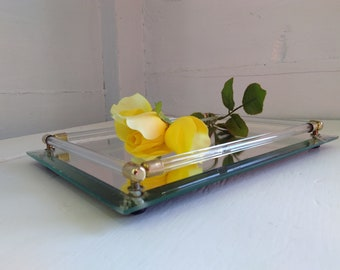 Vanity Mirror, Mirrored Tray, Vintage, Art Deco, Mid Century Modern, Photo Prop, RhymeswithDaughter