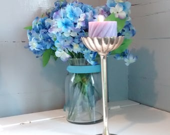 Pillar Candle Holder Brass Vintage Tall Stemmed Mantel Decor Altar Decor Wedding Decor Photo Prop RhymeswithDaughter