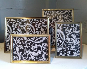 Picture Frames Vintage Gold Metal  8x10 5x7 Instant Eclectic Collection MidCentury Home Decor Wedding Photo Prop RhymeswithDaughter