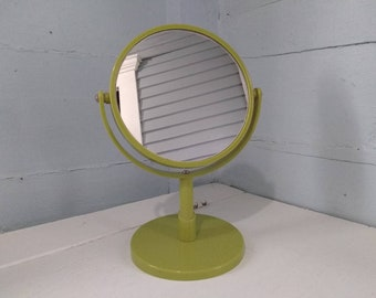 70s, Retro, Mirror, Standing Mirror, 2 sided, Regular and Magnified, Vanity Mirror, Shaving, Make up Mirror, Photo Prop, RhymeswithDaughter
