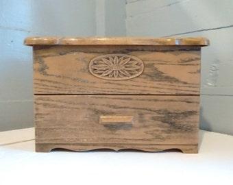 Kitchen Organizer 70s Retro Lerner Plastic Brown Faux Wood Box Photo Prop Kitchen Decor Storage Box Photo Prop RhymeswithDaughter