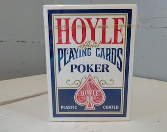 Poker Playing Cards Hoyle Plastic Coated Nevada Finish No. 1201 Unopened RhymeswithDaughter