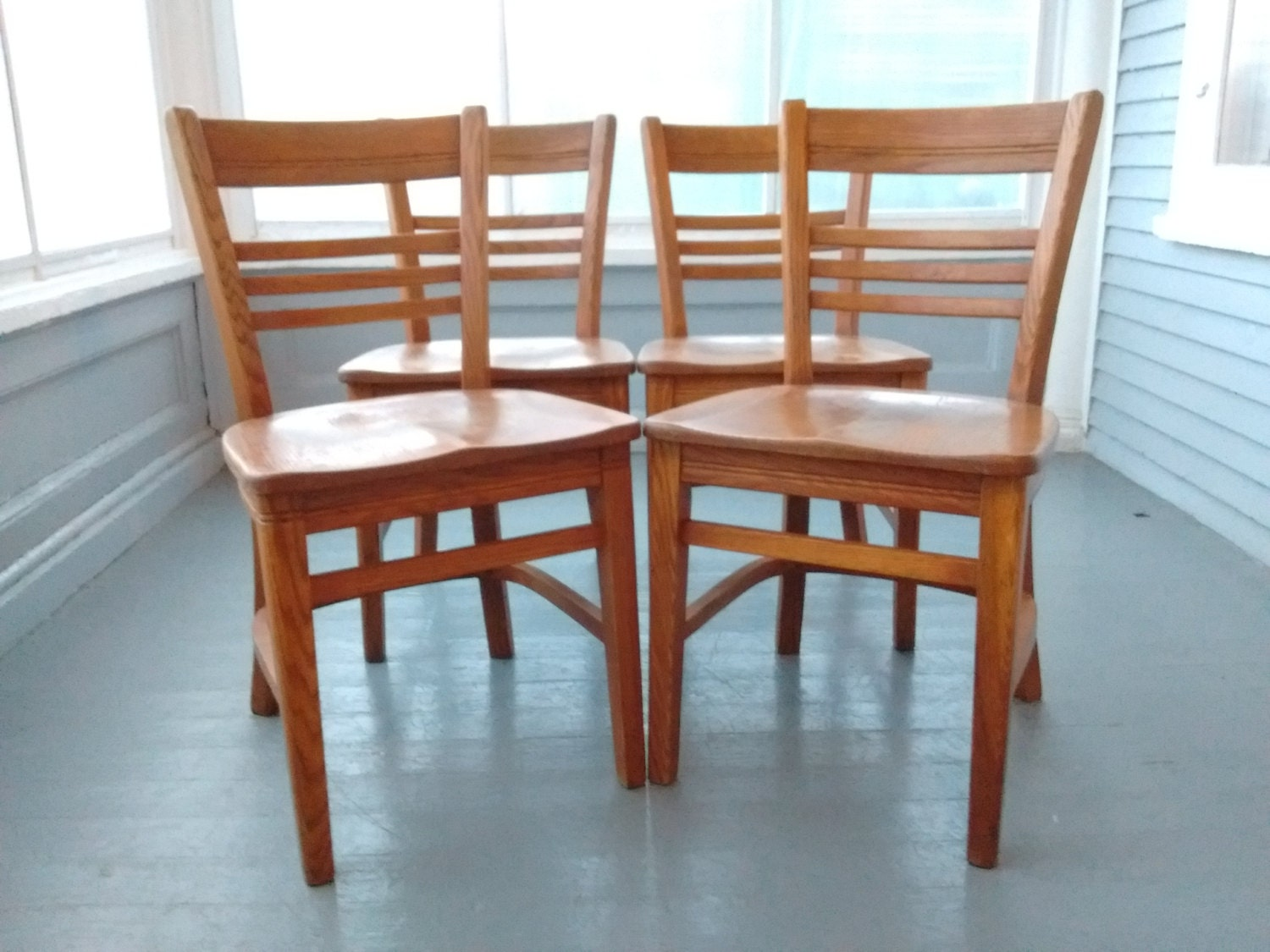 Vintage, Buckstaff, Set of Four, Kitchen Chairs, Dining Chairs, Bent ...