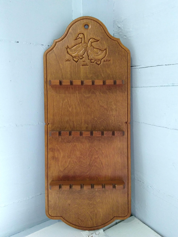 Pine huge range - see list 6pc Dachshund Wooden Spoon Display Rack