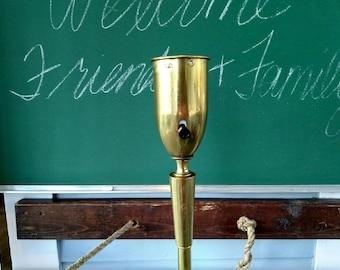 Vintage MidCentury Atomic Era Stiffel Floor Lamp Torchiere Lamp Lighting 3-Way Mogul Base Metal Brass Finish Home Decor RhymeswithDaughter