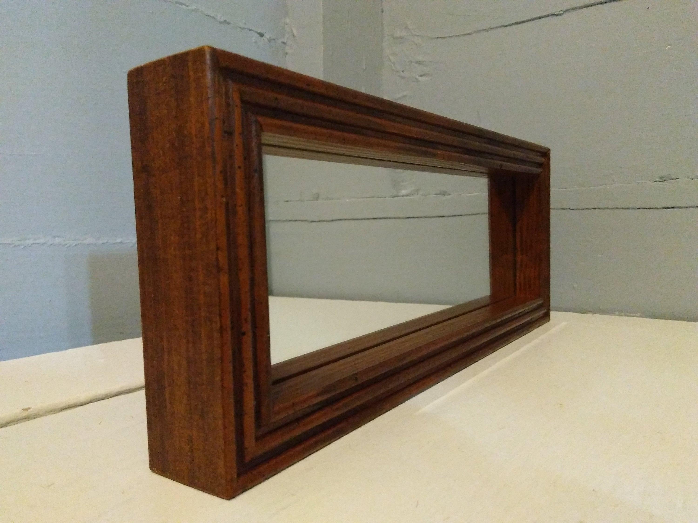 Retro 80s Mirror Wall Mirror Accent Mirror Small Rectangle Wood Framed Bathroom Mirror Hallway Mirror Home Decor Rhymeswithdaughter