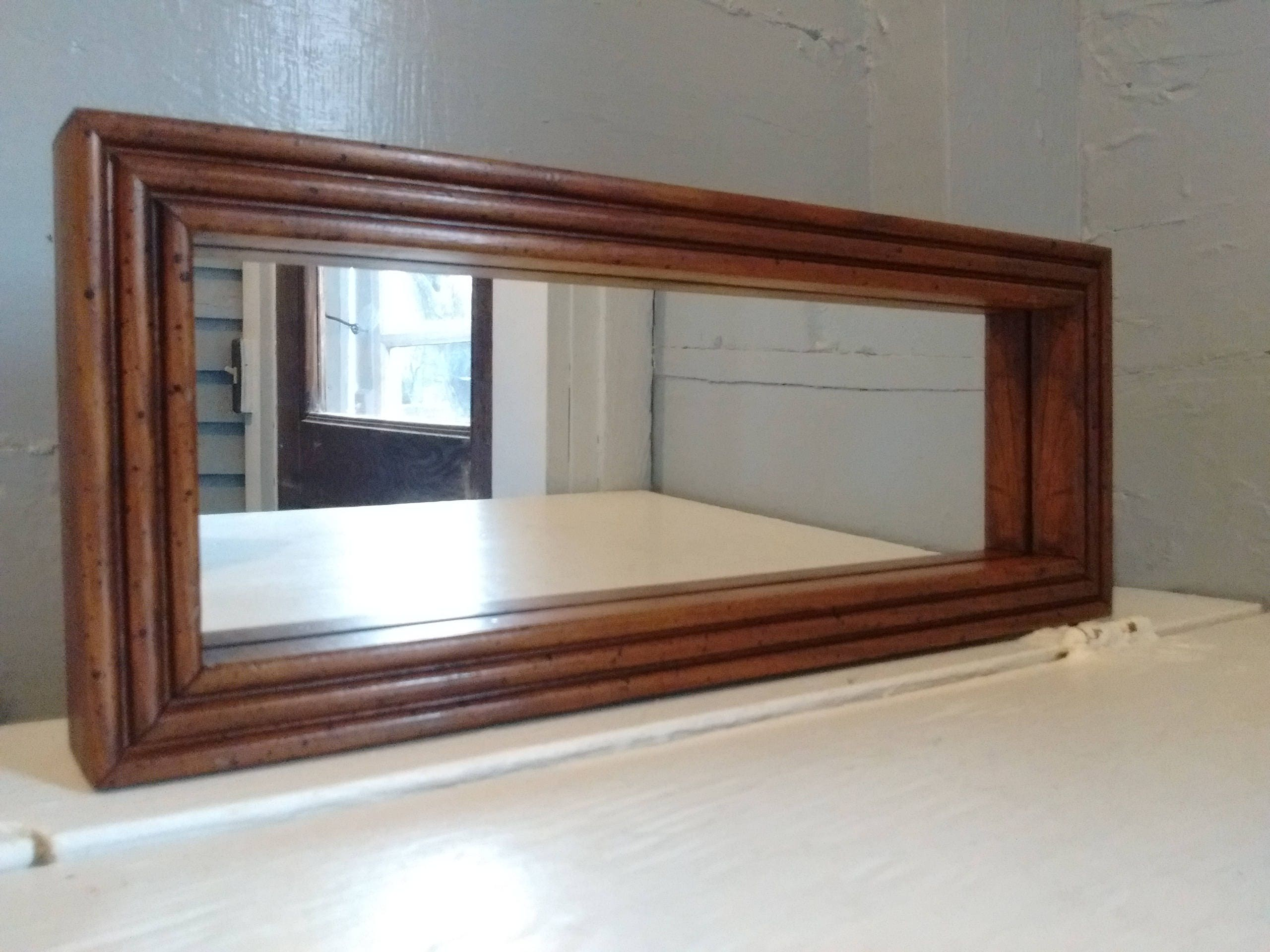 Vintage Mirror Small Rectangle Framed Mirror Wall Mirror Accent Mirror Entrance Mirror Teen Room Decor Rustic Rhymeswithdaughter