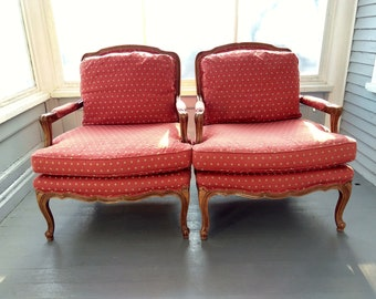 Sofa Chairs Arm Chairs Wood Upholstered Chairs Queen Anne Legs Solid Maple Newly Upholstered Livingroom Furniture RhymeswithDaughter