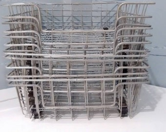 One, Vintage, File Basket, Metal Basket, Paper Tray, Desk Tray, Mid Century Modern, Industrial, Office Decor, Home Decor, RhymeswithDaughter