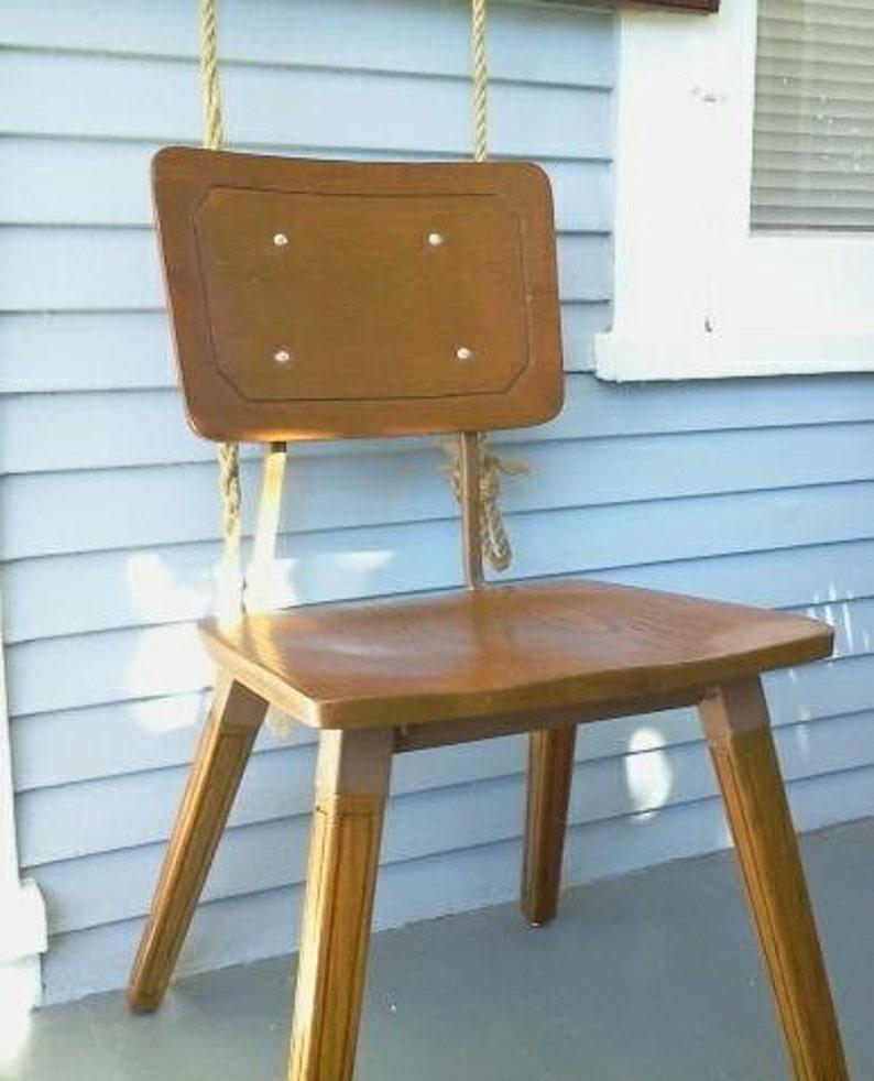 Vintage Kids Chair Metal Wood Desk Chair MidCentury Kids Furniture Photo Prop RhymeswithDaughter