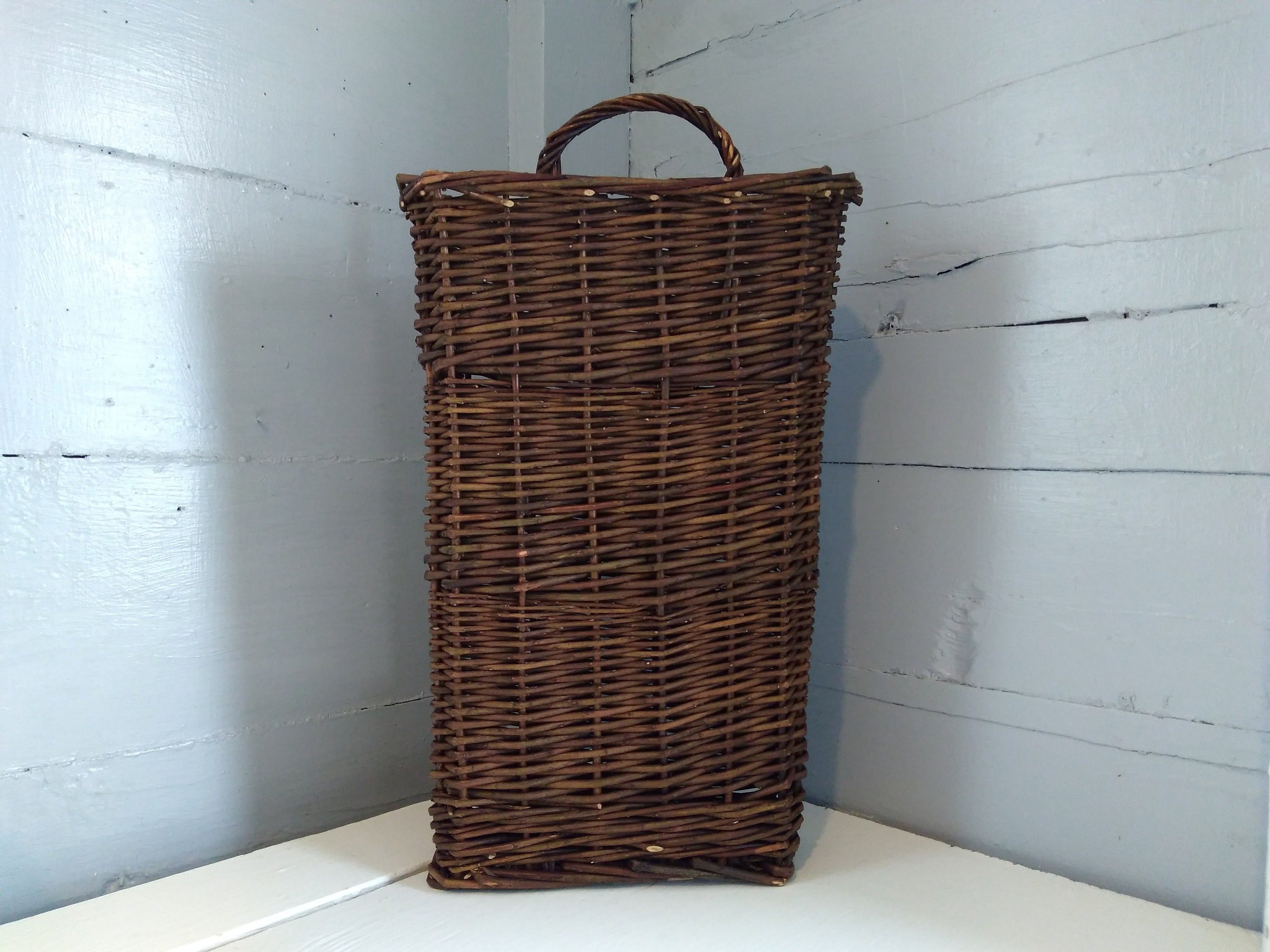 Tall Hanging Twig Basket Floral Basket Rustic Country