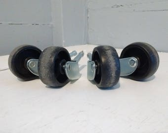 1 1/2 Inch Furniture Casters Wheels Set of Four Hardware Replacement RhymeswithDaughter