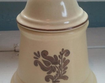 Sugar Bowl with Lid Pflatzgraff 70s Village Brown Country Farmhouse Rustic Kitchen Decor Photo Prop  RhymeswithDaughter