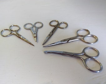 Scissors, Small, Collection Sewing, Crafting, Vintage,  RhymeswithDaughter
