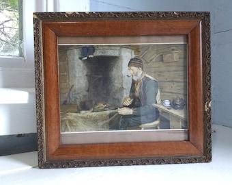 Art Framed Printby Herbjorn Gausta Antique Gilt and Wood Frame Photo Prop RhymeswithDaughter