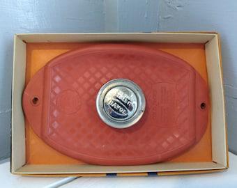 Vintage Soft Rubber Ice Cap Davol Orange Photo Prop Medical Ephemera RhymeswithDaughter