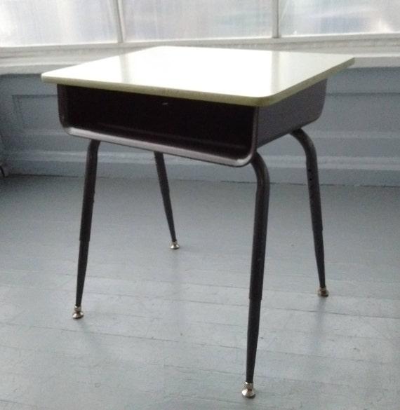 image 0 - Vintage Kids Desk School Age Childs Desk Adjustable Metal And Etsy