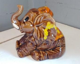 Adorable Elephant Ceramic Figurine Collectable Nursery Kids Room Decor Photo Prop Knick Knack Gift Idea Home Decor RhymeswithDaughter