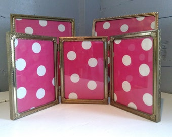 Picture Frames Gold Metal Instant Eclectic Collection MidCentury Home Decor Wedding Photo Prop RhymeswithDaughter