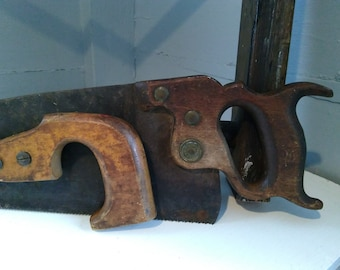 Old Tools Hand Saw Key Hole Saw Cutting Tools Hand Tools Wood Working Carpentry Vintage Warranted Superior Photo Prop RhymeswithDaughter