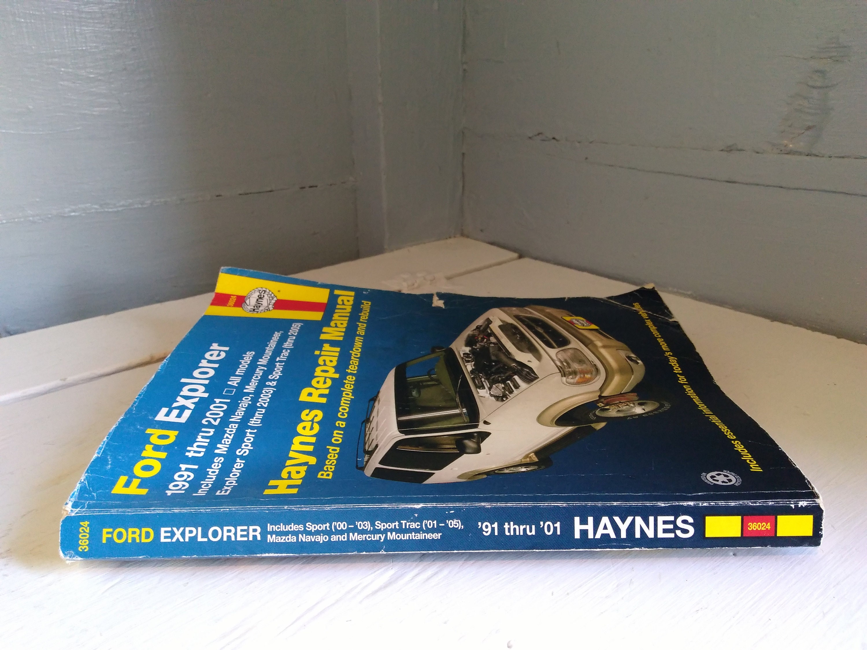 Haynes 1991-2004 Ford Explorer Mazda Navajo, Mercury Mountaineer and Explorer  Sport/Sport Trac Automotive Repair Manual RhymeswithDaughter