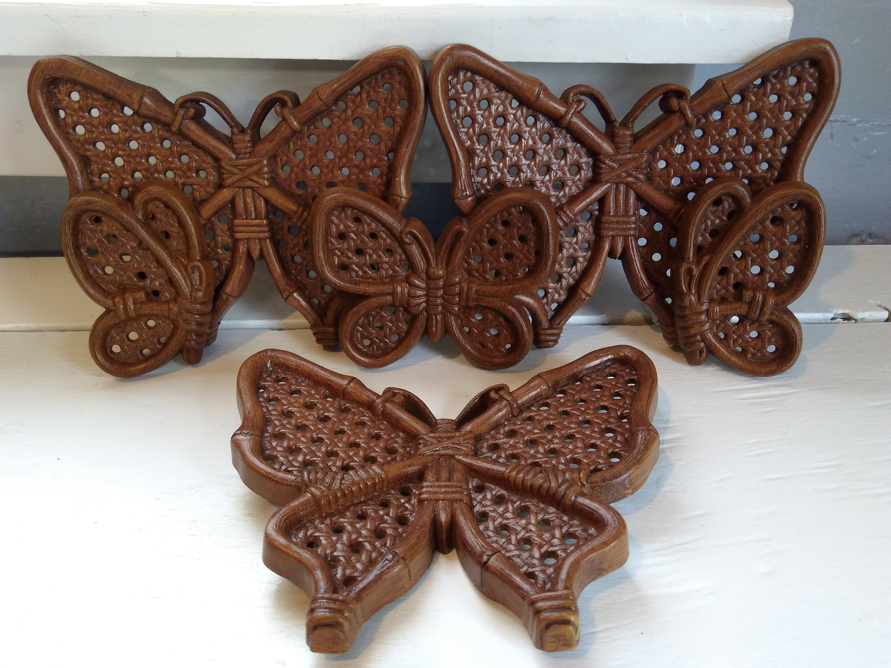 70s Retro Butterfly Wall Decor Set Of 6 Burwood Products Nursery Decor  Rhymeswithdaughter