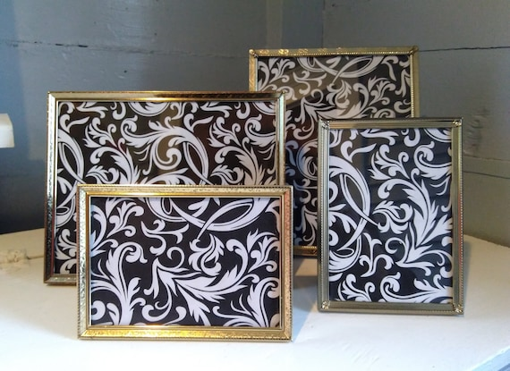 Vintage Gold Metal Picture Frames 8 X 10 And 5 X 7 Instant Etsy