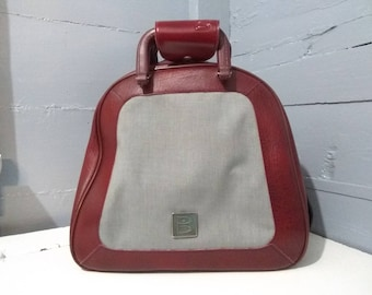 Vintage, Bowling Bag, Brunswick, Large, Maroon and Gray, Vintage, Retro, Photo Prop, Gift Idea, Sporting Goods, RhymeswithDaughter