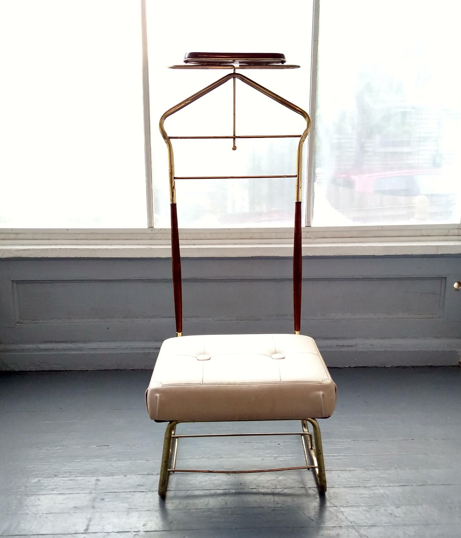 Vintage Gentlemans Chair Valet Clothes Butler Pearl-Wick ...
