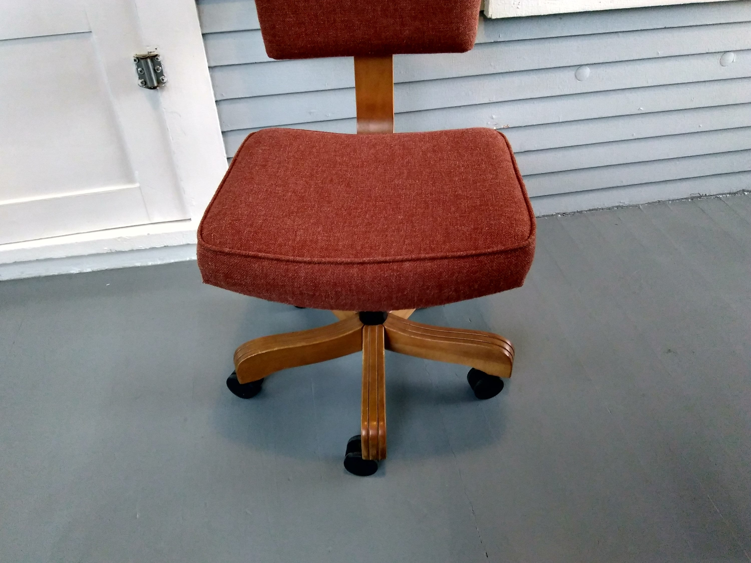 Terrific Vintage Rolling Desk Chair Midcentury Modern Industrial Spiritservingveterans Wood Chair Design Ideas Spiritservingveteransorg