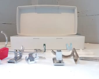 Vintage Sewing Machine Attachments Sewing Machine Parts Sewing Machine Attachment Box RhymeswithDaughter
