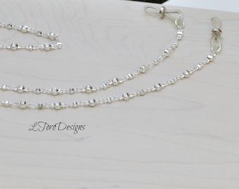 Silver Glasses Chain, Glasses Lanyard, Glasses Chain, Accessory, Eyewear, Sunglasses Chain, Readers Chain, Sunglasses Leash, Women's Gift