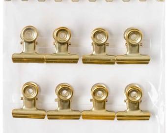 041 - gold clips - 12 PCs