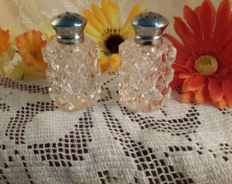 Vintage Crystal Salt and Pepper Shakers~ Made in West Germany