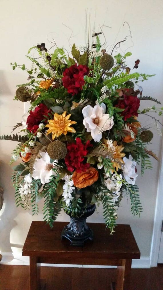 Extra Large Traditional Transitional Floral Arrangement Dining Etsy