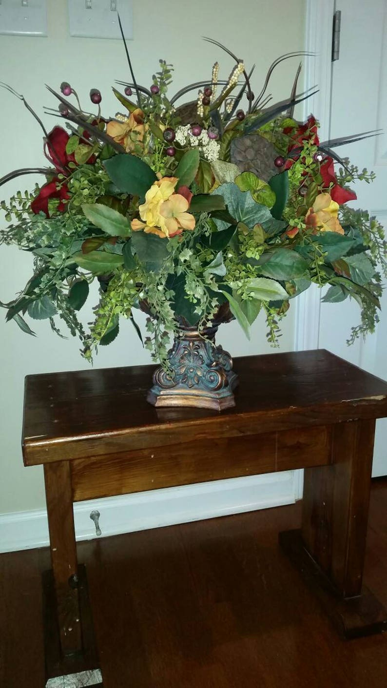 Arrangement Floral Bas Salle à Manger Table Entrée Table | Etsy