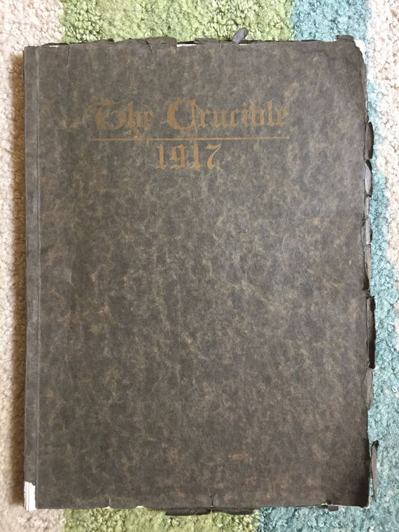 1917 The Crucible School Yearbook Annual East High School Etsy