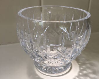 Waterford Crystal Vintage 1990s Tealight Candle Holder Bowl Candy Trinket Dish Irish Elegant Classic