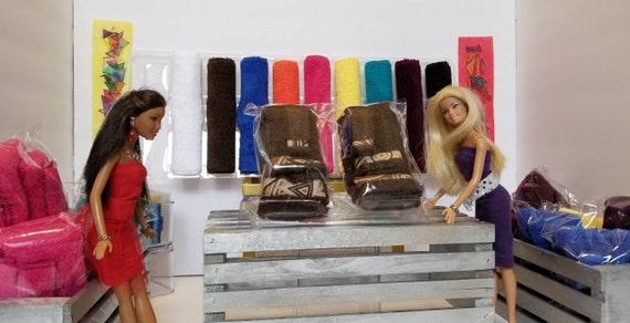 Bain de luxe Barbie brun-serviette de bain serviette ensemble-Prop-décoration serviette - Barbie-3 pièces serviette serviette Set-fait-main serviette-Wash Cloth