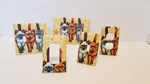 FRENCH BULLDOG HOME WALL DECOR DOUBLE LIGHT SWITCH PLATE