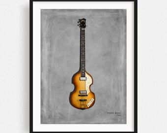 Paul McCartney/'s 1961 Hofner Cavern Bass ART POSTER A3 size