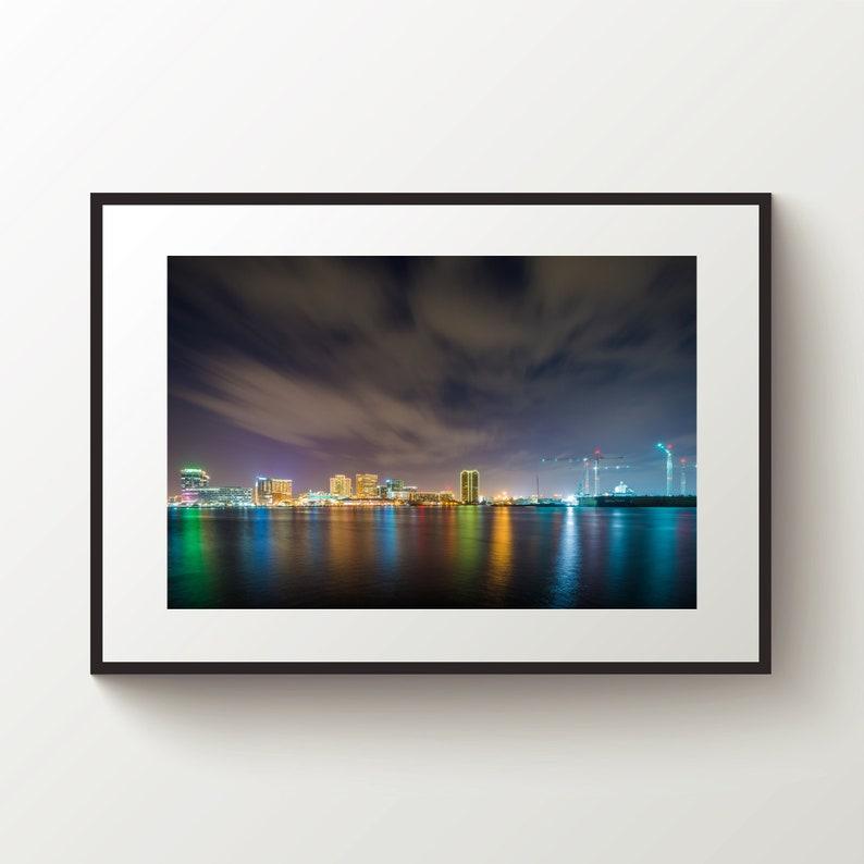 Richmond City Virginia Skyline SINGLE CANVAS WALL ART Framed Print