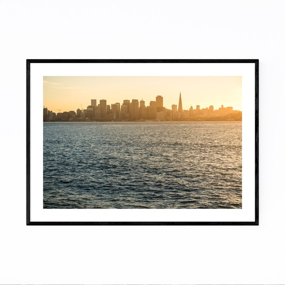 Boston Skyline easy to hang picture//mounted canvas wall art//betterThan stretched